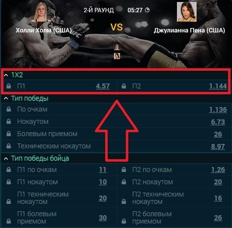исход победитель боя