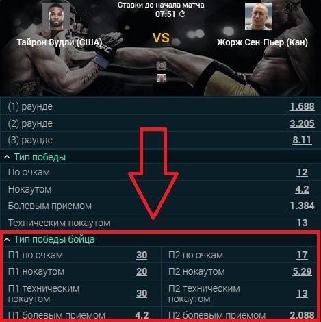 рынок тип победы бойца
